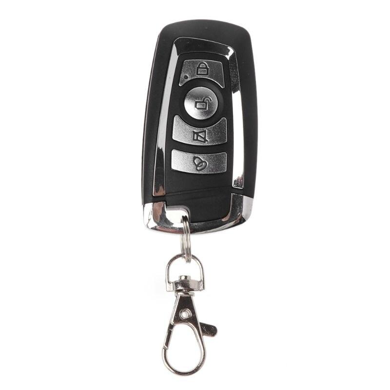 433MHZ:  Remote Control 433MHz Wireless Duplicator 4 Button Metal Clone Controller Copy Electric Gates Gadgets Car Home Garage Gate Fob - Martin's & Co
