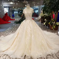 LSS320 sexy off shoulder wedding dresses with long train sweetheart appliques wedding gowns ball gown dress from real factory