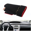 For Toyota Prius 2012 Car Dashboard Avoid Light Pad Instrument Platform Desk Cover Mat Silicone Non-skid Back Surface