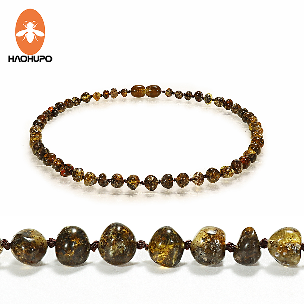 HAOHUPO Amber Necklace for Women Baltic Natural Amber Beads Baby Jewelry for Boy Girl Infant Teething Gifts for Etsy Supplier(China)
