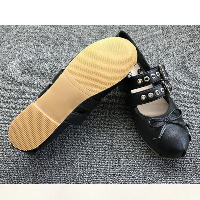 34 T3322 Black Appartements Femme Mouton Printemps Peau Abricot Taille Ballet Plus 40 Sangle Bowtie De Ruban En Chaussures white apricot La Noir Boucle Cuir blue Mode Ef1Bxqw
