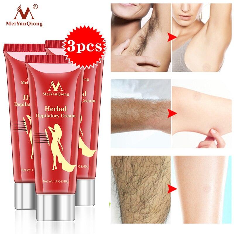 3pcs/lot Herbal Hair Removal Cream Depilatory Painless Cream