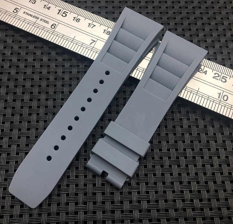 Bracelet de montre en caoutchouc de silicone souple pour hommes de haute qualité importé pour bracelet mille pour bracelet RM-011 pour bracelet Richard