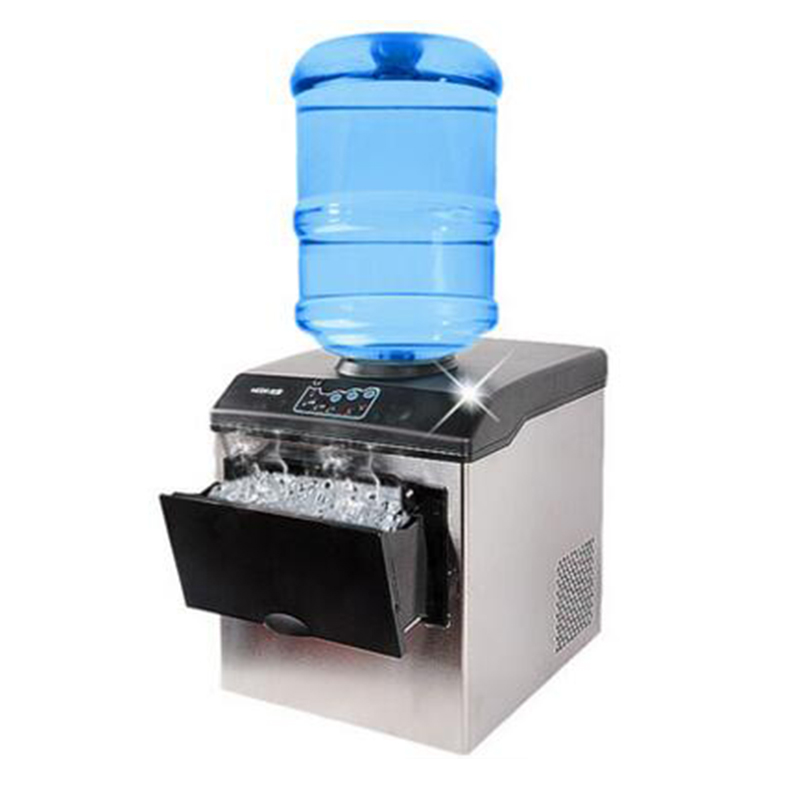1pc HZB-25/BF ice making machine electric commercial or homeuse countertop Automatic bullet ice maker making machine 220-240V