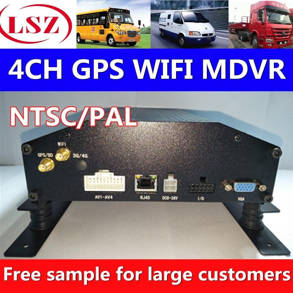 В настоящее время выхода 4 канала жесткий диск видеомагнитофон MDVRGPS positioning system WI FI поддержки сети Dahua, Hikvision, Tesswell