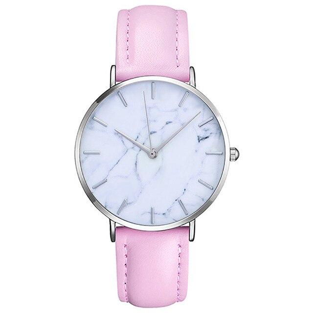 Women's Clock Ladies dress watch Simple Stylish Marble Dial Watches Men Women Sl