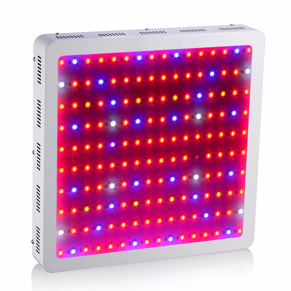 Full Spectrum 1600W Double Chip LED Grow Light Rojo / Azul / Blanco / UV / IR Para hidroponía y plantas de interior