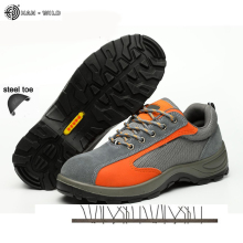 Safety Work Shoes For Men Leather Breathable Casual Labor Protection Anti-Smashing puncture Boots Mens Steel Toe Shoe