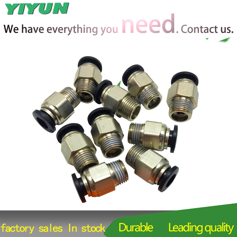 PC10 01 PC10 02 PC10 03 PC10 04 Pneumatic threaded through connector Straight thread in Pneumatic Parts from Home Improvement