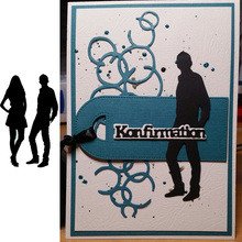 Human Figure Shadow Metal Cutting Dies for Scrapbooking Boy & Girl New 2019 Embossing Stencils Paper Craft Die