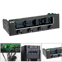 LCD Screen Panel Fan Speed Temperature Controller Governor PC Hardware Protector 5 25in Drive Bay Computer