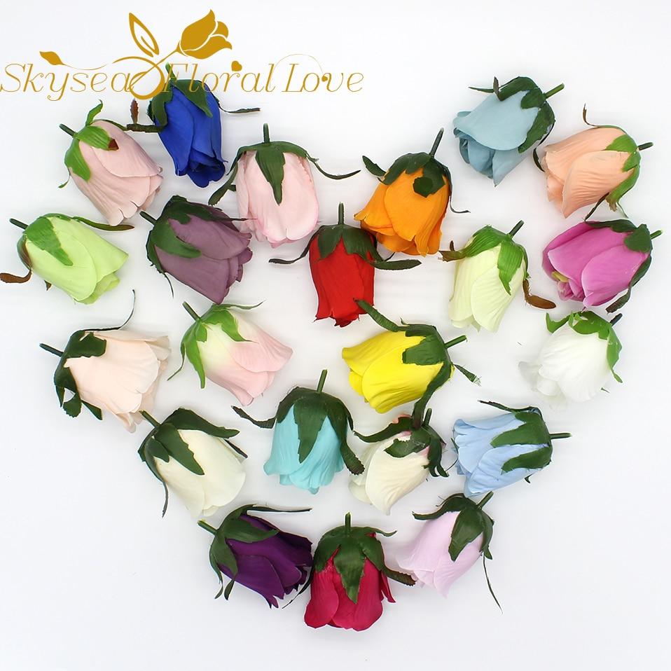 Diy Handmade Corsage Artificial Flower Heads Silk Flower Boutonniere