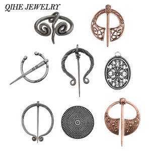 QIHE JEWELRY brooch Scarf buckle Viking style Pins