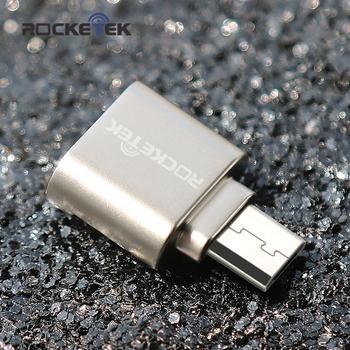 Rocketek micro usb 2 0 typ c otg telefon mini karta pamięci adapter do czytnika kart aluminiowych do laptopa micro SD TF microsd tanie i dobre opinie Zewnętrzny All in 1 multi w 1 Karty tf MCR4-TCR4 Micro SD card usb adaptor easy to carry