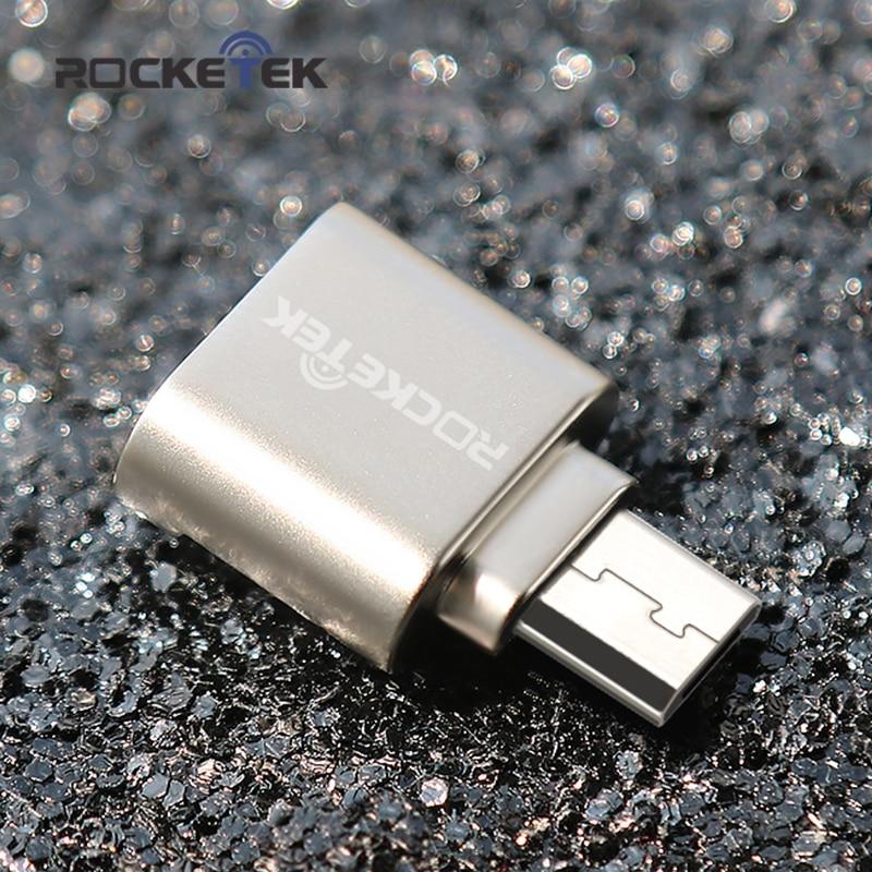 Rocketek Micro Usb 2.0 Type C Otg Phone Mini Memory Card Reader Adapter Aluminum Cardreader For Micro SD/TF Microsd Laptop