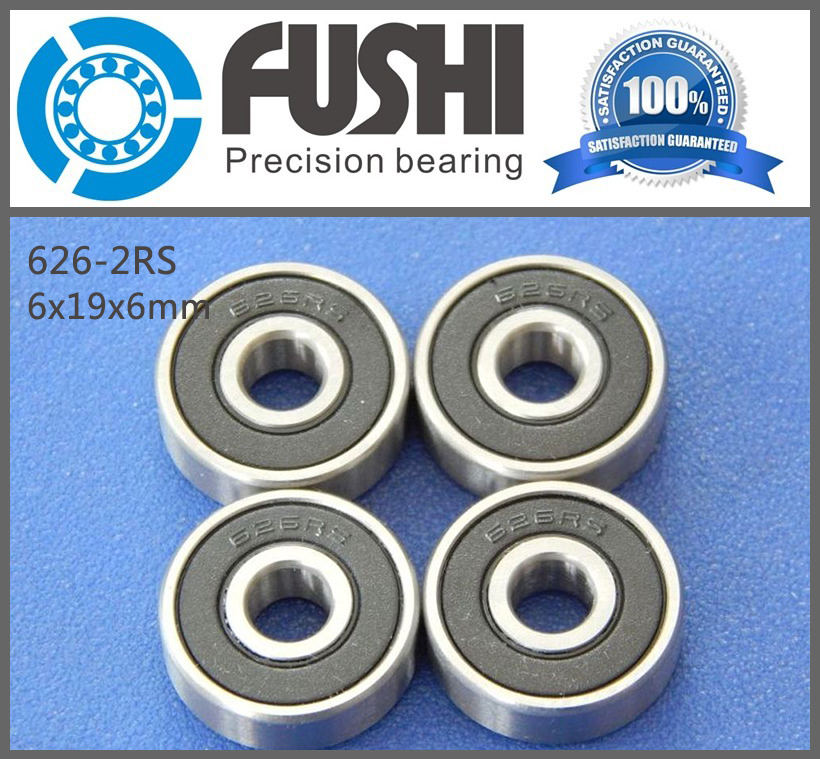 626RS Bearing ABEC-1 (10PCS) 6x19x6 mm Rubber Sealed 626-2RS Ball Bearings 626 RS / 2RS 1pc 6217 2rs 6217rs rubber sealed ball bearing 85 x 150 x 28mm