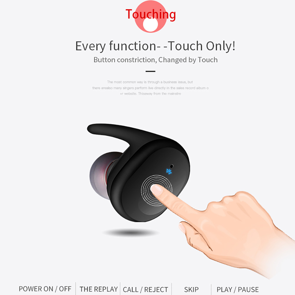 Bluetooth Headset As Wireless Mic: Sago S9100 Sports Headphones Wireless Bluetooth Headset IPX5 Waterproof Earphone With Mic For