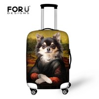 Animal Cute Dog Printing Men Travel Bag Cover For 18 30 Inch Sutcase Stretch Luggage Protective