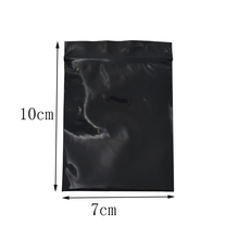 7*10cm Black Opaque Zip Top Plastic Package Bag Moisture Proof Grip Seal Soft Button Packing Pouch 200pcs/lot