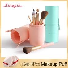 Professional 7pcs Makeup Brushes Set High Quality Solf  Nylon Hair Cosmetic Blending Brush Make Up Brushes Kit with Holder цены