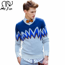 MR.JIM High quality brand men's sweaters 2016 autumn winter casual long sleeved o-neck sweater men brand clothing Men's clothing