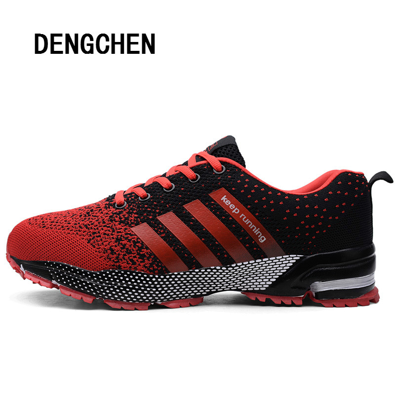 2018 New Brand Running Shoes Mens Sneakers Breathable Air Mesh Shoes Eva Athletic Sapatos Women Sport Runing Shoes for Men