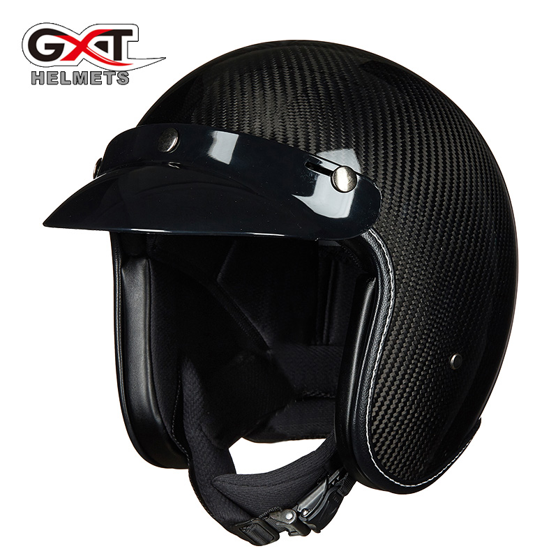 цена на GXT 361 motorcycle Helmet Half face Helmet halley style electric locomotive Racing Sport Protection Carbon fiber helmet
