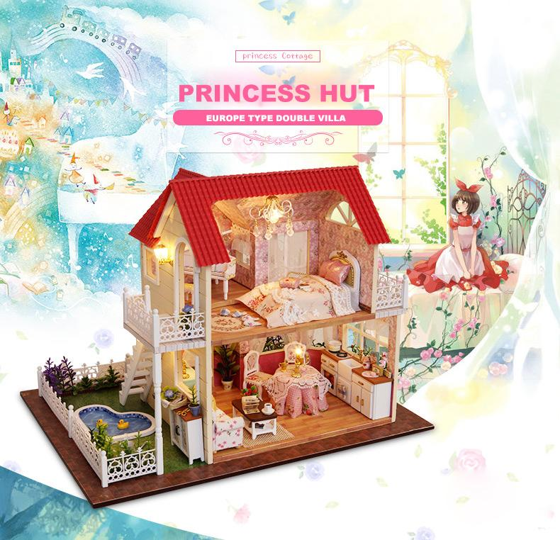 Gifts New Brand DIY Doll Houses Wooden Doll House Unisex Dollhouse - Type of house for kids