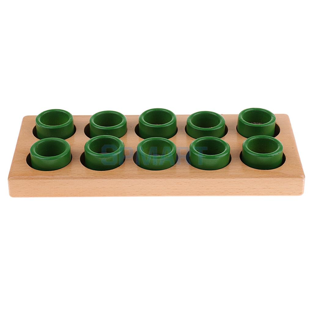 Montessori Wood Cylinders Touch Rough & Smooth Sensorial Material Teaching Aids Training Kids Learning Educational Toy