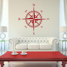 YOYOYU Nautical Compass Pattern Vinyl Wall Stickers Kids  Muraux Removeable Decal Bedroom Livingroom Decoration ZX148 high quality dandelion pattern removeable wall stickers