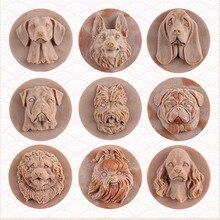 Силиконовая форма для мыла 3D форма собаки Форма для шоколадных конфет торт инструмент для декорирования, сделай сам ручной работы