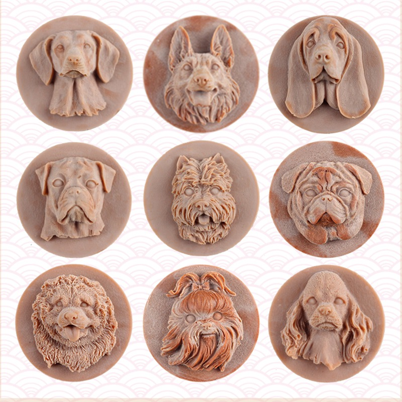 Silicone Soap Mold 3D Dog Shape Chocolate Candy Mould Cake Decorating Tool DIY Handmade Craft Resin Clay