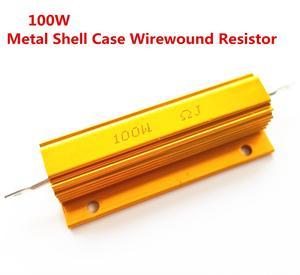 Pełnej wartości 100W aluminiowa obudowa przypadku rezystor drutowy 0.01-100 K 0.025 1 2 100 150 200 0.05 0.11 300 500 2K ohm