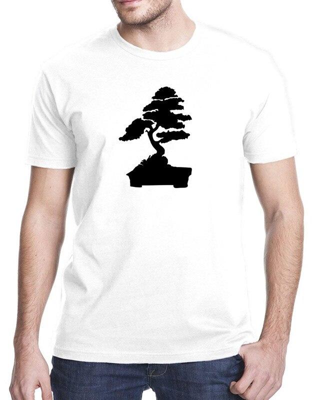 Повседневное футболка Новинка karate kid Карликовые деревья дерево с коротким Для мужчин экипажа Средства ухода за кожей Шеи Рождество рубашка