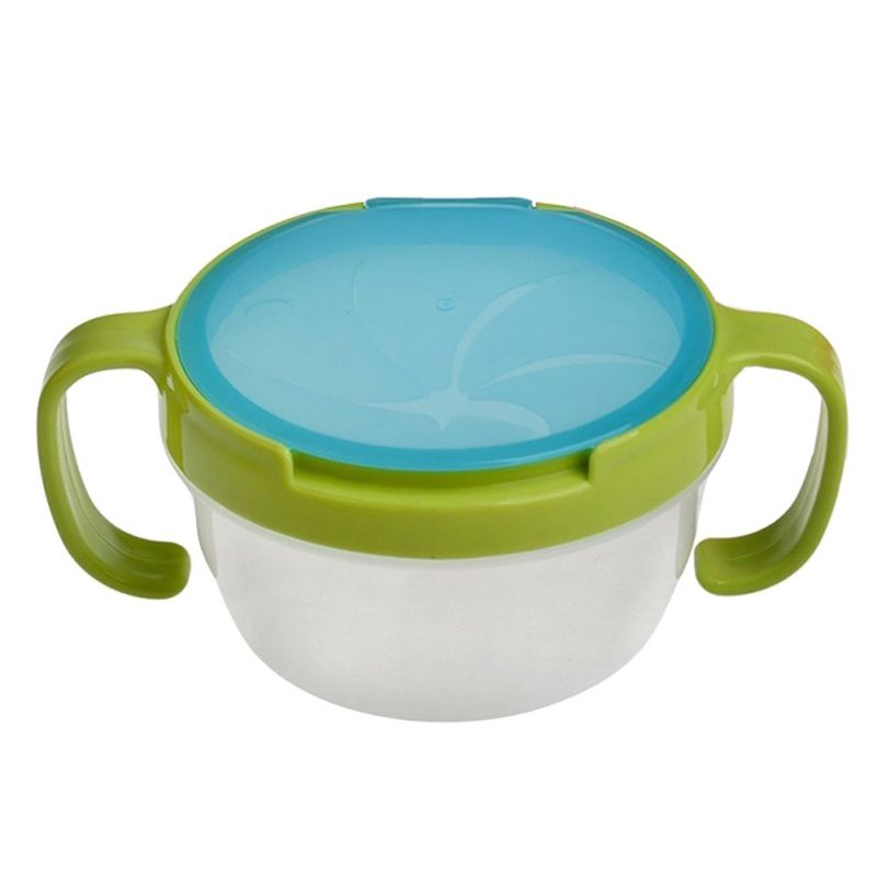 Feeding Double Handle Biscuits Snack Bowl Spill Proof Cup