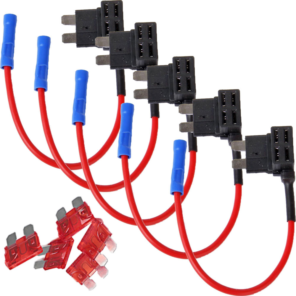 5 Pcs 10A Car Auto ACU Add Circuit Standard Blade font b Fuse b font font online get cheap fuse box tap cable aliexpress com alibaba group auto fuse box tap at downloadfilm.co