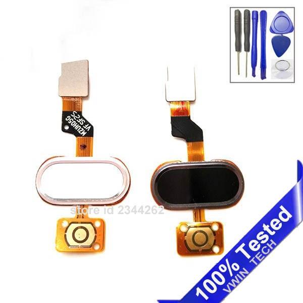 Home Button Key Avec Flex Câble Pour 5.0 Meizu M3S Mini blanc Noir Or Couleur de Suivi avec Des Outils