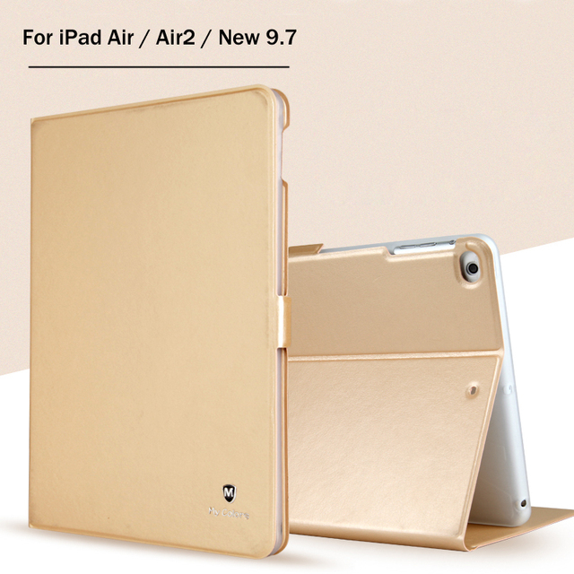 New 2017 For iPad 9.7 A1822 High-Quality TPU Uxury Slim Cover Case For iPad 5 / 6 / Air / Air2 / Air 2 Stand Case + Film +Stylus