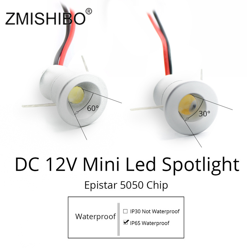 ZMISHIBO Spot LED Silvery Mini Cabinet Lights 12V Downlight 15mm Cut Hole Ceiling Recessed Lamp IP65 For Jewelry Cabinet Display(China)