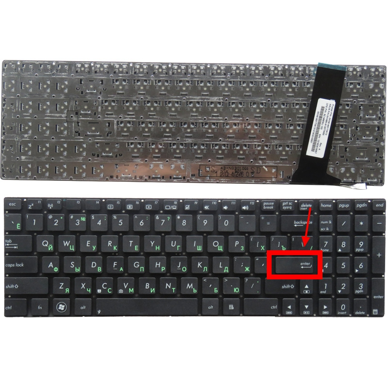 Image 2 - GZEELE Russian RU Keyboard for ASUS N56 N56V N76 N76V N76VB N56DY N76VJ N76VM N76VZ U500VZ N56VV N56VZ U500VZ U500 U500V black-in Replacement Keyboards from Computer & Office on