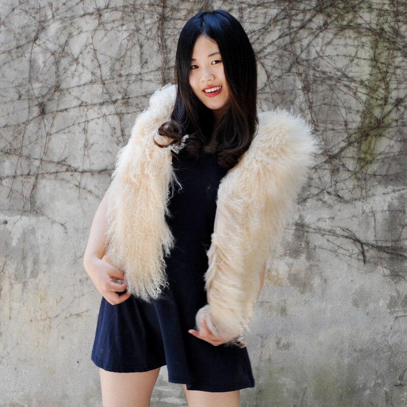 Lana Di Agnello Per Occhi Di Pernice.191f Lady Vest Gilet Alibaba Di Pelliccia G Cachi Modo Autunno Cx B