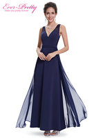 Evening Dress Ever Pretty HE08593NB Women Navy Blue V Neck Robe De Soiree 2015 Vestido De
