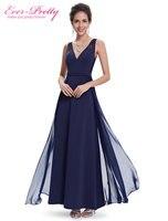Evening Dress Ever Pretty HE08593NB Women Navy Blue V Neck Robe De Soiree 2015 Vestido De