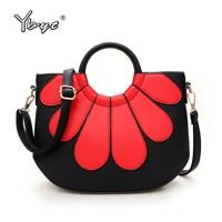 YBYT Brand 2016 New Fashion PU Leather Patchwork Shell Bags Hotsale Ladies Shopping Handbags Shoulder Messenger