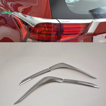 цена на Car Accessories Exterior Decoration ABS Chrome Rear Tail Light Lamp Eyebrow Cover Trim For Mitsubishi Outlander 2016 Car-styling