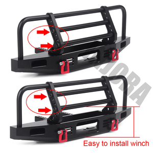 Image 5 - INJORA Adjustable Metal Front Bumper for 1/10 RC Crawler Traxxas TRX4 Defender Axial SCX10 SCX10 II 90046 90047