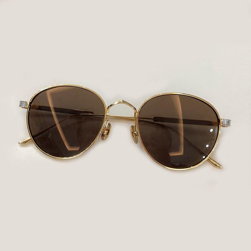 Conception de marque de mode lunettes de soleil rondes femmes 2018 luxe surdimensionné Vintage lunettes de soleil dégradé de haute qualité lunettes de soleil femmes