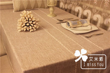 Zakka streaks natural solid stripes simple tablecloth table cover Japanese cotton Mediterranean khaki abstrakte fabric rectangle