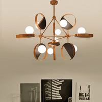 Postmodern LED chandelier Nordic fixtures bedroom suspended lamps loft illumination home lighting living room hanging lights