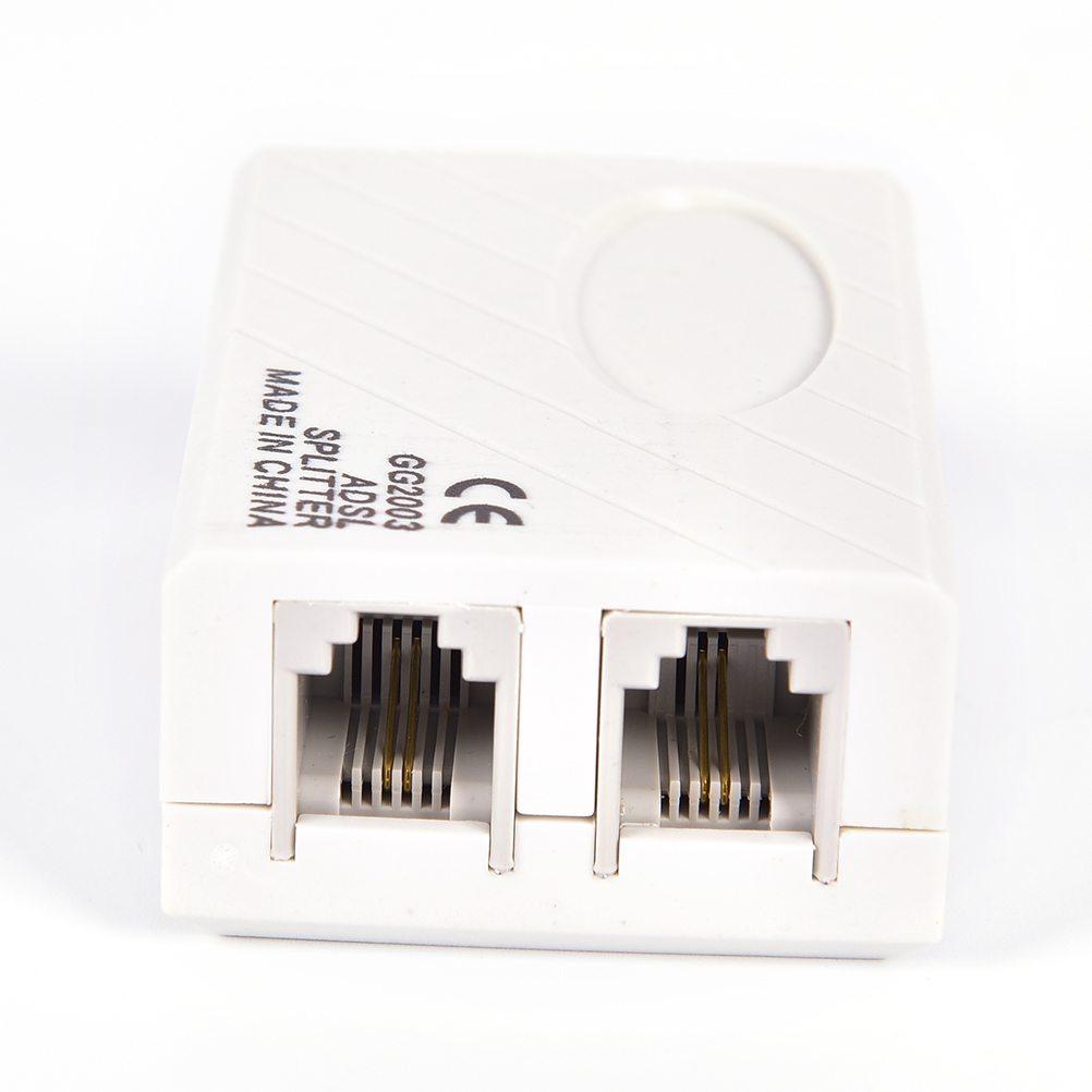 RJ11 Line ADSL Telephone Modem Broadband Phone Line Filter Splitter